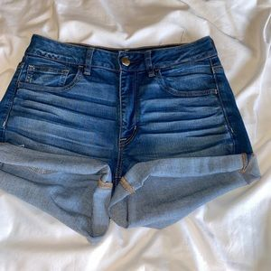 American Eagle high waisted shortie shorts